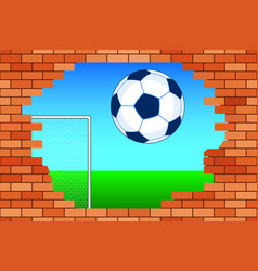 Ball and broken wall vector