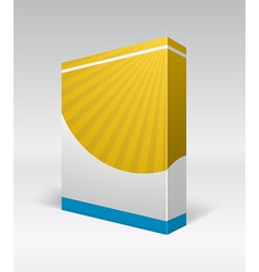 blank dvd box on background vector image vector image
