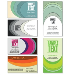 Colorful Business card set vector image vector image