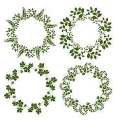Decorative floral frames set vector image