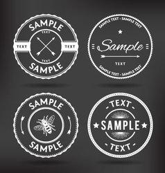 Retro logo elements vector