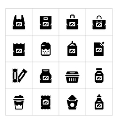Set icons of package vector image