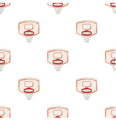 Shield with basketbasketball pattern icon in vector
