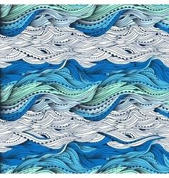 Waves Gradient Blue 3 vector image vector image