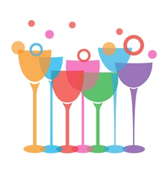 wine glasses t vector image