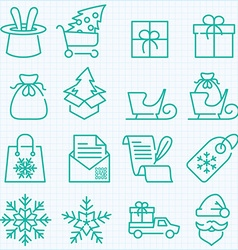 winter and Christmas time shopping and delivery vector image vector image