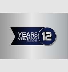 12 years anniversary logo style with circle vector