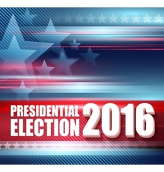 2016 USA presidential election poster vector image