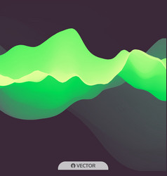 3d wavy background dynamic effect futuristic vector