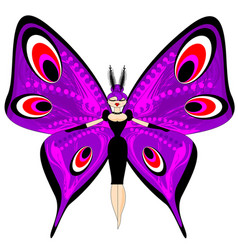 Abstract color image of the large purple girl vector