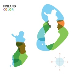 Abstract color map of Finland vector image