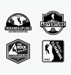 Adventure logo badges 6 vector