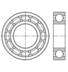 ball bearing contour vector image