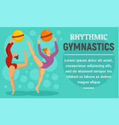 ball rhythmic gymnastics concept banner flat vector image