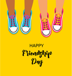 best friends forever happy friendship day design vector image