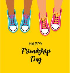 Best friends forever happy friendship day design vector