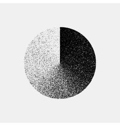 Black Abstract Circle Badge vector