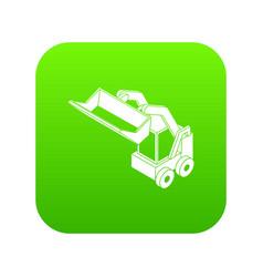 Bobcat machine icon green vector