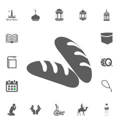 bread barakat icon ramadan kareem eid mubarak vector image