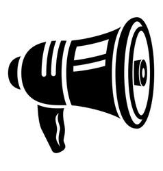 bullhorn icon simple style vector image