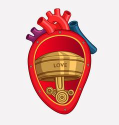 Cartoon organs heart vector