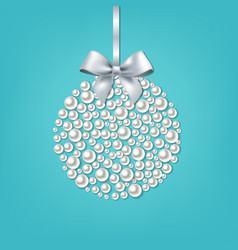 christmas ball mint background vector image
