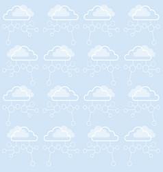 cloud data storage global network seamless pattern vector image