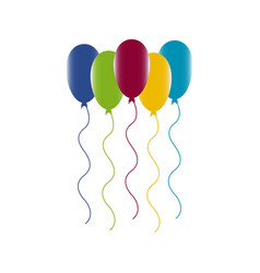 Colourful birthday or party balloons vector
