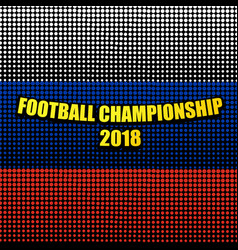 Comic football championship 2018 template vector