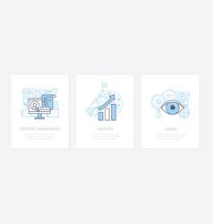 digital marketing - line design style icons set vector image