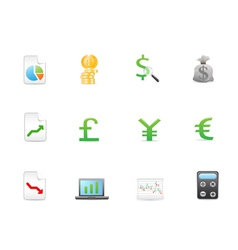 Economy Finance icons vector image