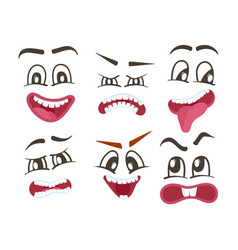 Emoticons or funny smileys icons set vector