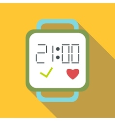 Fitness smart bracelet icon flat style vector