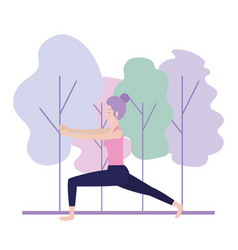 fitness woman doing yoga exercise vector image