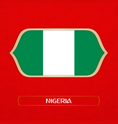 flag of nigeria is made in football style vector image