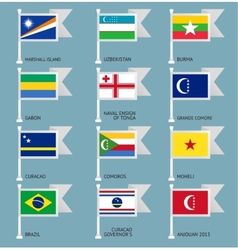 Flags set four-11 vector image