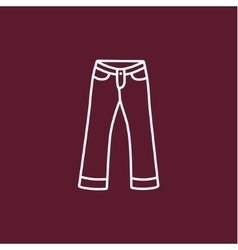 Front jeans vector image