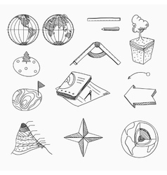 Geography lesson School objects and educational vector image