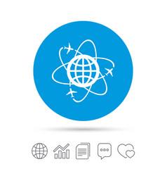 Globe sign icon world logistics symbol vector