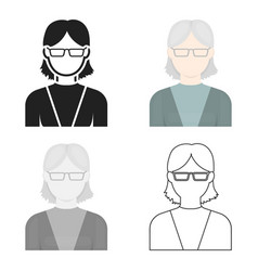 Grandmother icon cartoon single avatarpeaople vector