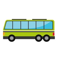 Green bus with windows isolated on white vector image