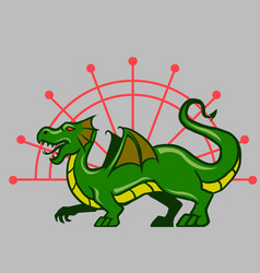 Green dragon vector