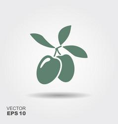 green olive branch logo vector image