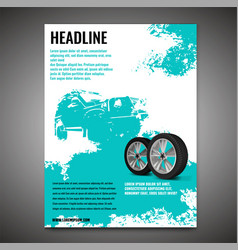 Grunge offroad poster vector
