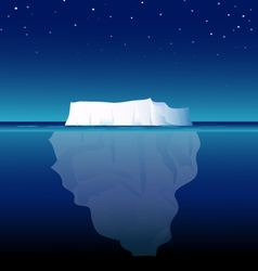 Iceberg at night vector