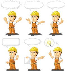 Industrial Construction Worker Mascot 17 vector image