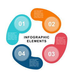 Infographic circle template with 4 steps parts vector