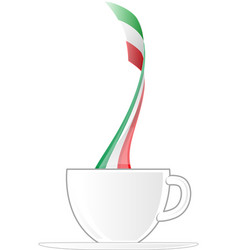 italian cup coffee with flag vector image