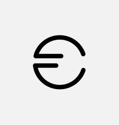 Letter cf outline modern business logo design vector