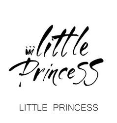 Little princess lettering vector